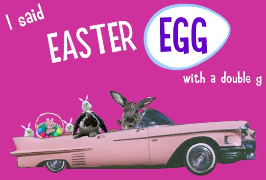 Click to jam with the Easter Bunny, because, your worth it